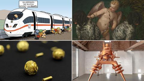 Collage aus verschiedenen Fotos der Ausstellungen, die im 1. Quartal starten.