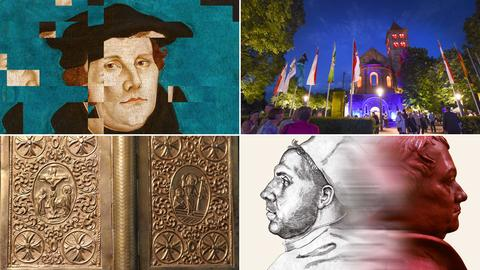 Collage zu Ausstellungen und Aufführungen zum Reformationsjubiläum