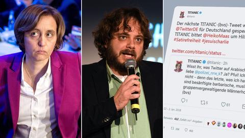 """""""Titanic""""-Chefredakteur Tim Wolff verteidigte den Tweet des Satiremagazins, den die """"Titanic"""" im Namen der AfD-Politikerin Beatrix von Storch abgeschickt hatte."""