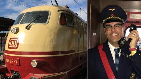 TEE-Lok und Zugbegleiter.
