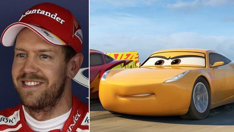 Sebastian Vettel / Figur aus Cars