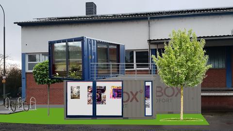 Entwurf von einem Kunstcontainer in Gießen
