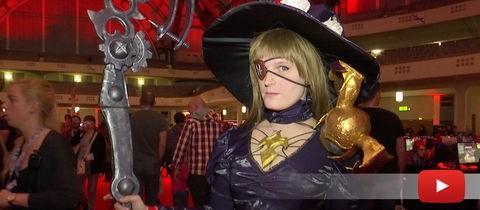 """Cosplayer beim Videospiel-Festival """"Final Fantasy XIV Fan"""" in Frankfurt"""