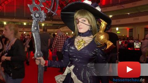 "Cosplayer beim Videospiel-Festival ""Final Fantasy XIV Fan"" in Frankfurt"