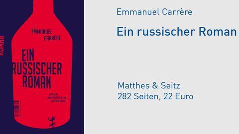 "Cover Emmanuel Carrère ""Ein russischer Roman"""