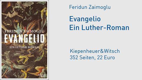"Cover Feridun Zaimoglu: ""Evangelio. Ein Luther-Roman"""