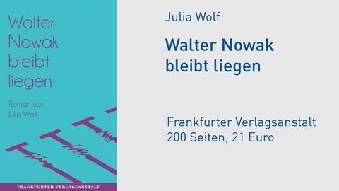 """Cover Julia Wolf: """"Walter Nowak bleibt liegen"""""""
