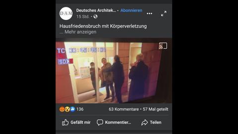 Bildausschnitt aus dem Video vom Angriff