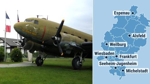 Kombo Hessenkarte mit 'Rosinenbomber'