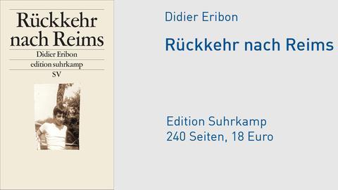 "Cover Didier Eribon ""Rückkehr nach Reims"""