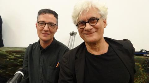 documenta-Kurator Paul B. Preciado (li.) und Franco Berardi