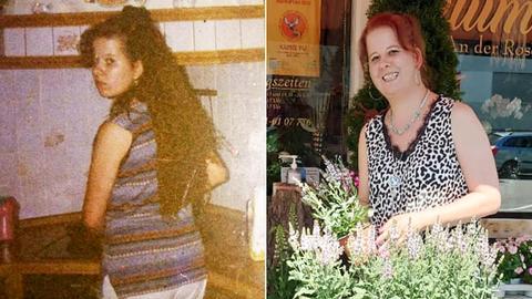 Zwei Portraits von Ivonne nebeneinander - damals und heute.