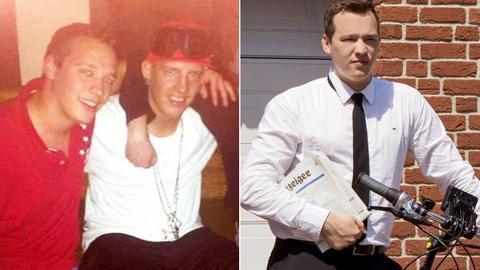 Zwei Portraits von Martin nebeneinander - damals und heute.