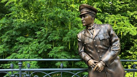 Elvis-Statue in Bad Nauheim