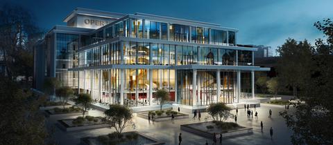 Ein Entwurf für den Neubau der Oper Frankfurt.