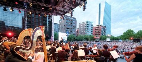 Blick von der Konzertbühne