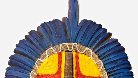 "Maske der Tapirapé aus Brasilien (Mato Grosso) genannt ""Cara Grande"", Leihgabe Thomas Rosenbauer"