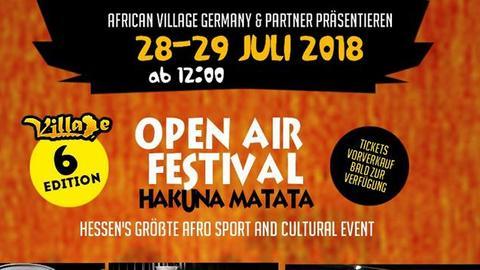 Einladungsflyer zum African Village am 29. und 30. Juli