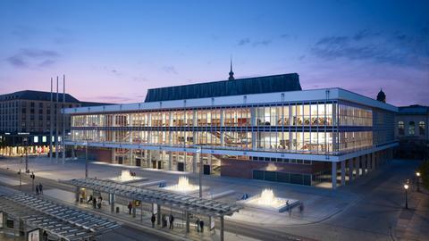 Einer der Finalisten: GMP-Architekten für die Modernisierung und den Umbau des Kulturpalasts in Dresden
