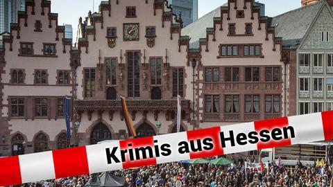 Menschenmenge vor dem Frankfurter Römer