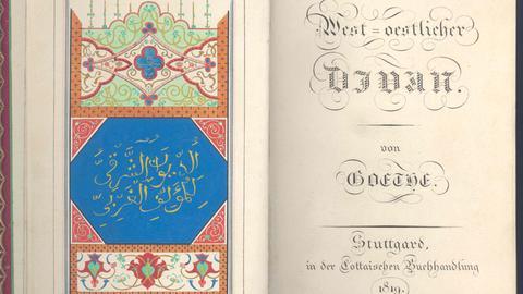 Goethe: West-östlicher Divan (nur für entspr. Ausstellung verwenden!)