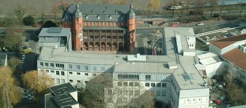 Aus der Vogelperspektive: Luftaufnahme der Offenbacher HfG