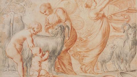 Pierre Brebiette, Jupiter als Kind und die Ziege Amalthea