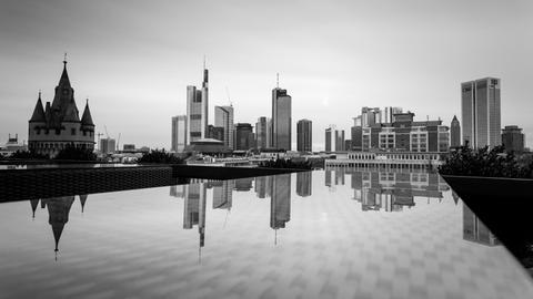 Blick über Frankfurts Dächer