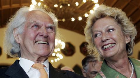 Hilmar Hoffmann und Petra Roth