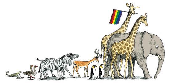 Homoparade Tiere