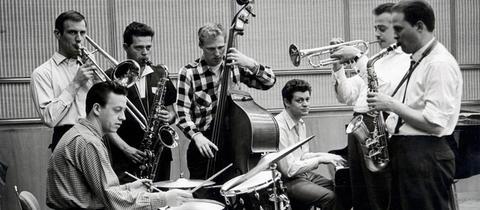 hr-Jazzensemble 1958 mit Albert Mangelsdorff