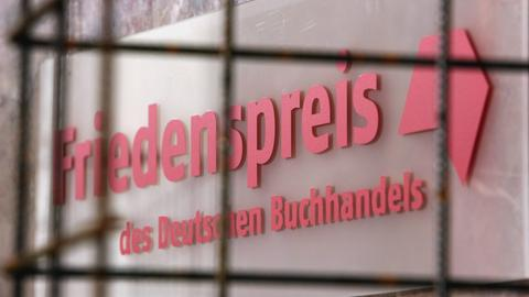 Schriftzug Friedenspreis des deutschen Buchhandels