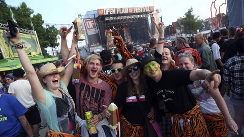 Besucher beim Open Flair Festival in Eschwege