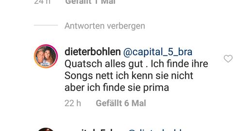 Instagram-Post von Dieter Bohlen