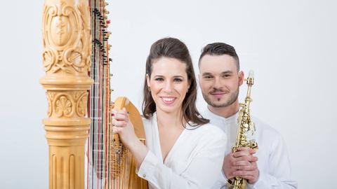 Jerusalem Duo Hila Ofek (Harfe) und André Tsirlin (Saxophon)