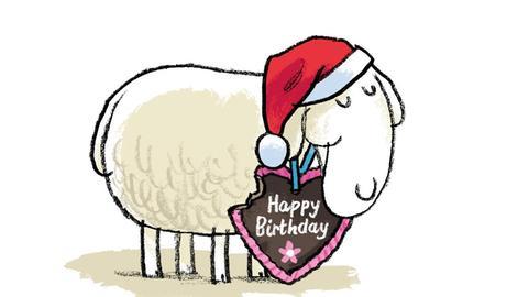 gezeichnetes Schaf
