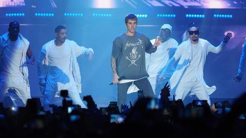 Bühnenshow mit Justin Bieber