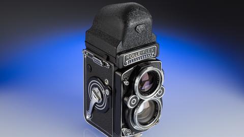 Doppeläugige Spiegelreflex-Kamera Rolleiflex