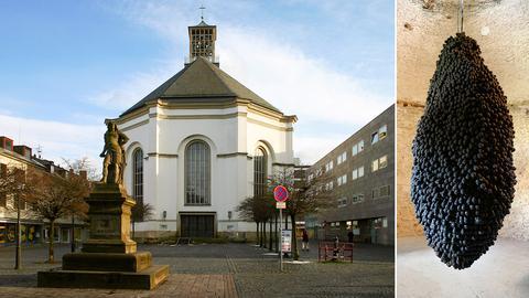 Klangskulptur in einer Luther-Ausstellung in der Karlskirche Kassel
