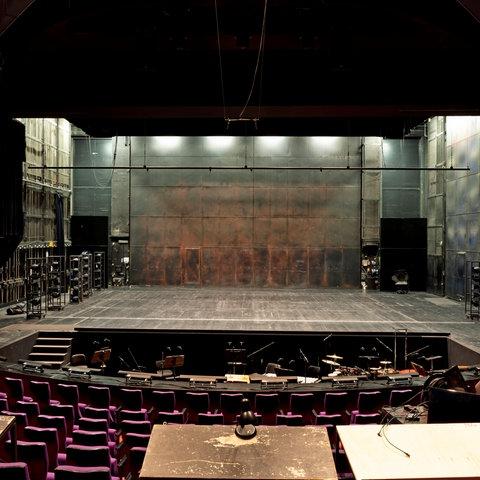 Die Bühne des Kleinen Hauses im Staatstheater Darmstadt