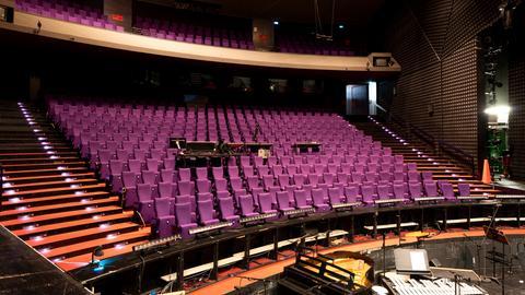 Zuschauertribünen im Kleinen Haus des Staatstheaters Darmstadt