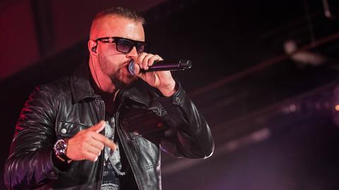 Rapper Kollegah bei einem Konzert