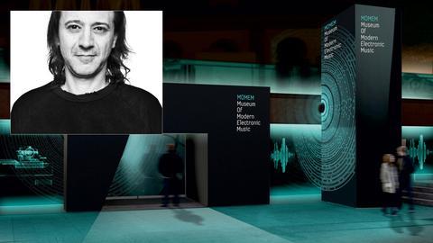 "Museumsdirektor Alex Azary und das geplante  ""Museum Of Modern Electronic Music"" MOMEM"