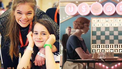 Kombo Hessische Schachspielerinnen/ Damengambit Netflix