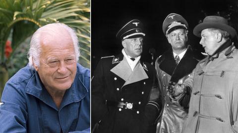 """Curd Jürgens 1976 und mit Kollegen im Film """"Des Teufels General"""""""