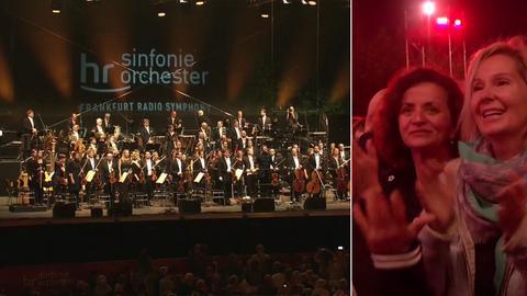 Das hr-Sinfonieorchester an der Weseler Werft in Frankfurt - Besucher