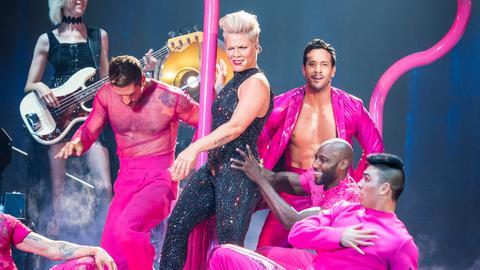 Auch mit heißen Tanzeinlagen überzeugte die Popsängerin.