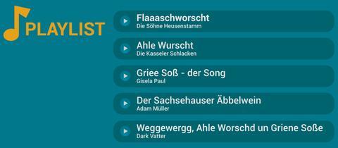 Die hessisch-kulinarische Playlist Fünf Lieder, die jeder Hesse hören muss, wenn er Hunger und Durts hat
