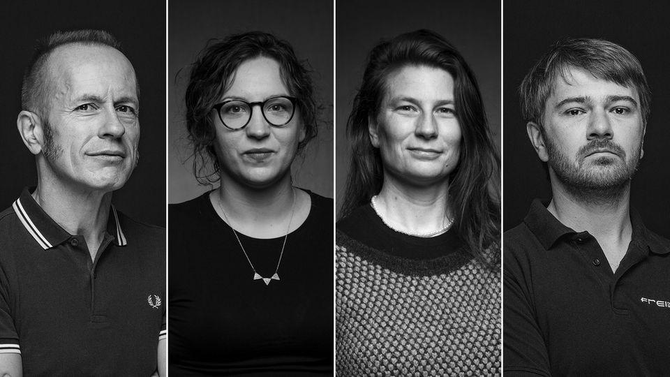 Kulturgesichter aus Darmstadt und Offenbach: Didi, Saskia, Julakim und Matthias.