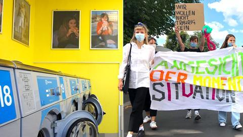 Kunstuni-Studierende protestieren gegen Corona-Auflagen